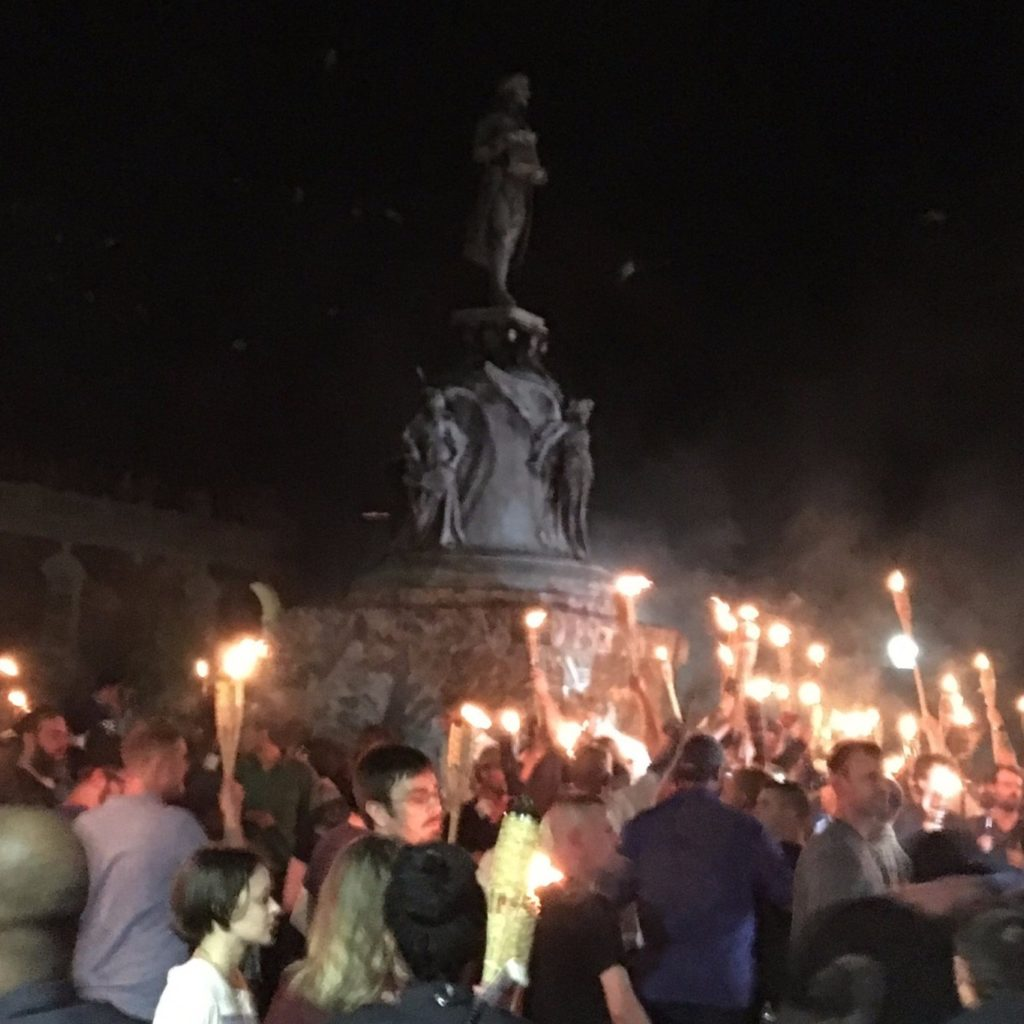 Violence erupts at Klan-like rally through the University of Virginia campus | ThinkProgress